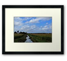 Irrigation and silos down on the farm Framed Print