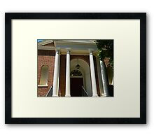 A Small Town Library Framed Print