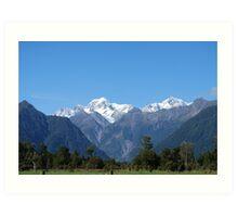 Glaciers of New Zealand Art Print