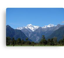Glaciers of New Zealand Canvas Print