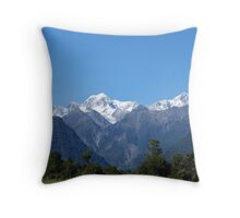 Glaciers of New Zealand Throw Pillow