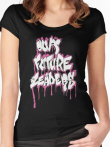 Our Future Leaders Graffiti Pink Women's Fitted Scoop T-Shirt
