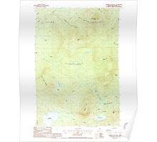 Maine USGS Historical Map Number Four Mtn 460692 1988 24000 Poster