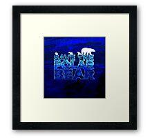 Save the Polar Bear night design Framed Print