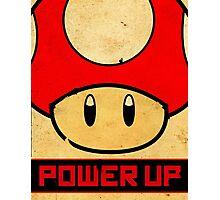 Super Mario Mushroom Propaganda Photographic Print