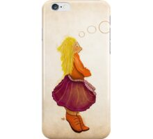 Coffee stain illustration iPhone Case/Skin