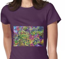 Spring Garden Color Explosion Womens Fitted T-Shirt