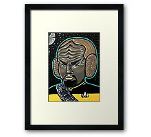 Worf Princess Leia Framed Print