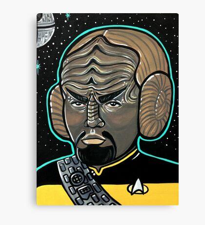 Worf Princess Leia Canvas Print