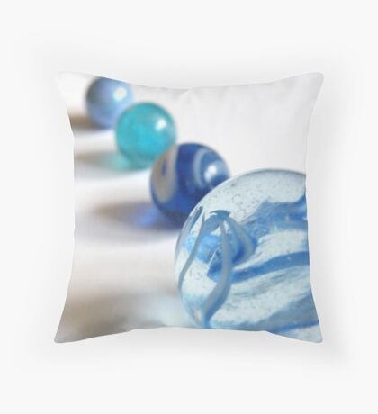 A Scale Of Blue Throw Pillow