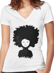 Untitled Silhouette Women's Fitted V-Neck T-Shirt