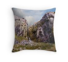 Gordale Scar Panorama Throw Pillow