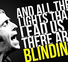 Oasis -- Wonderwall lyrics by MicrowaveDesign