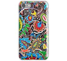 Colorful vintage flowers paisley  iPhone Case/Skin