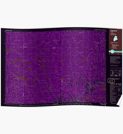 Maine USGS Historical Map Oakfield 808138 1985 100000 Inversion Poster