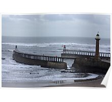 Whitby Harbour Entrance Poster
