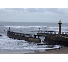 Whitby Harbour Entrance Photographic Print