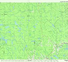 Maine USGS Historical Map Oakfield 808138 1985 100000 by wetdryvac
