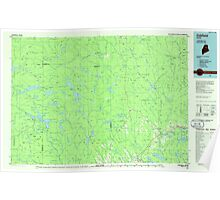 Maine USGS Historical Map Oakfield 808138 1985 100000 Poster