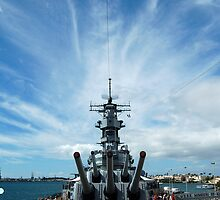 Cirrus clouds over Pearl Harbor by Greg Kolio Taylor