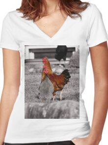 Super Chickens! Women's Fitted V-Neck T-Shirt