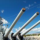 USS Missouri 16-inch guns by Greg Kolio Taylor