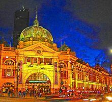 Flinders Street Station, Melbourne, Australia  by vadim19