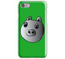 green piggy grey scale iPhone Case/Skin