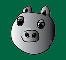 green piggy grey scale Unisex T-Shirt