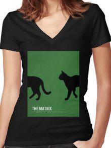 The Matrix minimalist print Women's Fitted V-Neck T-Shirt