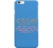 John Watson= Conductor of Light iPhone Case/Skin