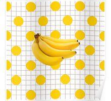 Banana Grid Poster