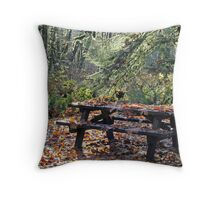 """""""Campground Closed"""" Throw Pillow"""