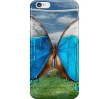 Butterfly - Morpho - I hate it when the colors run iPhone Case/Skin
