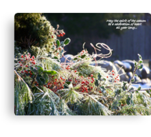 Spirit of the Season... Canvas Print