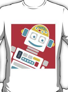Retro Robot - Red, White & Blue T-Shirt