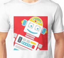 Retro Robot - Red, White & Blue Unisex T-Shirt