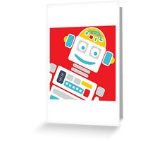 Retro Robot - Red, White & Blue Greeting Card