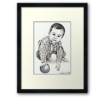 Max with Blue Ball Framed Print
