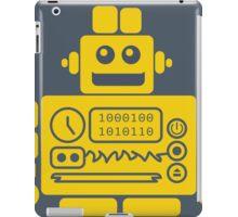 Retro Robot - Navy & Yellow iPad Case/Skin