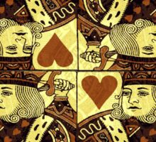 FOUR KING OF HEARTS Sticker