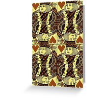 FOUR KING OF HEARTS Greeting Card