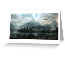 Past Time's End - Skyrim Greeting Card