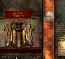 Steampunk - Alphabet - J is for Jet Pack Sticker