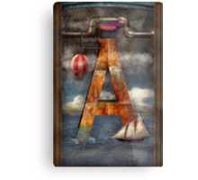 Steampunk - Alphabet - A is for Adventure Metal Print