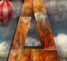 Steampunk - Alphabet - A is for Adventure Sticker