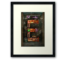 Steampunk - Alphabet - E is for Electricty Framed Print