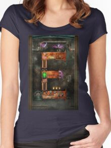 Steampunk - Alphabet - E is for Electricty Women's Fitted Scoop T-Shirt