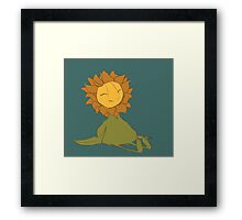 The Happy Sunflower Framed Print