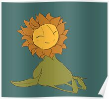 The Happy Sunflower Poster